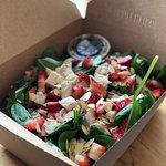 Spinach Strawberry Chicken Salad