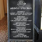 We offer a variety of different specials every week!