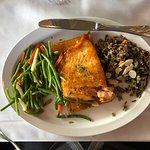 The salmon entrée is excellent.