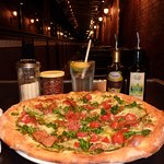 Enjoy your pizza on our outdoor patio