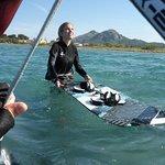 ecole de kitesurf a Majorque avec Hallie kite lessons en Juin