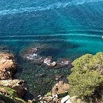 Off the hillside in Tossa de Mar looking down on the coast of the Mediterranean...breath taking!