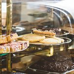 Lots of baked goodies and desserts made fresh