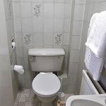 small cramped toilet