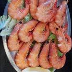 Camarão cozido/ Boiled Shrimp.