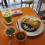 Special veggie Omelette with fresh Guava juice