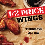 1/2 Price Wings every Tuesday!!