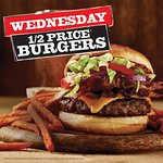1/2 Price Burgers and $5 Beers