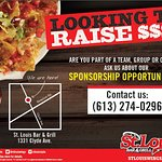 We Sponsor Teams! Ask your server for details