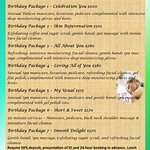 Birthday Packages available at Soft Touch Day Spa.