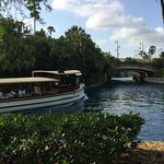 Take the water taxi to the theme parks!
