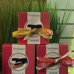 Gift sets from Neuhaus- pretty and delicious.  Orangettes featured here.