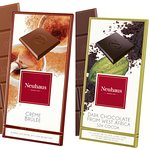 Two of Neuhaus' finest Chocolate Bars- Creme Brûlée or Dark Chocolate from West Africa