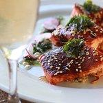 Salmón y quinoa