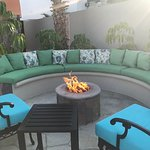 The Residences - fire pit area