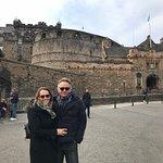 La pareja en Edimburgo