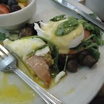 TRUFFLE EGGS BENEDICT...( So delicious I almost forgot to take a picture ) YUMMY !!