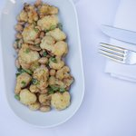 Fried cauliflower with peanuts and nuoc-cham