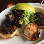 blackened scallops on the side