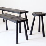 Rough-Sawn Benches and Stools, by Duncan Oja