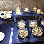Appetizers and desserts at the Level lounge