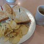 Roast turkey sandwiches and hazelnut coffee