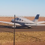 Fly into Birdsville and across the road to the Pub.
