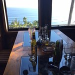 Pacific Ocean view from our table