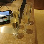 Sparkling wine offered when checking in