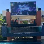 DJ area in front of 1 of the swim up bar