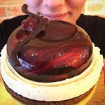 The Black Forest. Sour cherry compote, dark chocolate mousse, chocolate cookie, vanilla cream a