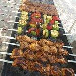 Shashlyk - grilled meat