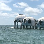 Cape Romano: you can see 2 more homes just under the water