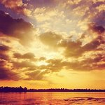 Beautiful landscape and sky on the Mekong River!