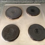 rusted old style electric cook top