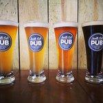 4 different craftbeer to taste at Jardin Café Pub