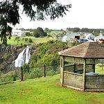 Gazebo overlooking the falls