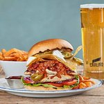 Messy Mexican Burger + Pint for additional £1