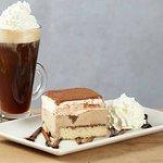Ice Cream Tiramisu or a Tia Maria Coffee with Fluffy Cream.