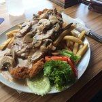 Pork Schnitzel with mushrooms