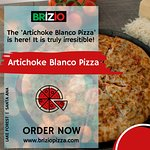 We create and serve Artichoke Blanco Pizza at brizio pizza! Come and enjoy at Briziopizza. Visit