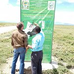 Reading the map and directives placed by Tanzania Nation Parks