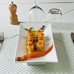 Paccheri en purée de Poivrons et tomate cerise