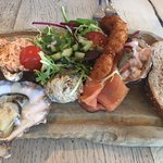 Magnificent fish platter (note oyster)