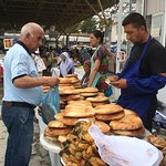 This is a market near the railway station in Samarkand