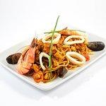 SPAGHETTI SINATRA - Calamar, gambas, moules et fruits de mer
