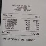 Bild från Cafeteria Coliseo