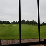View of the driving range from the cafe
