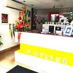 Recepción de Stylus hotel Iquitos