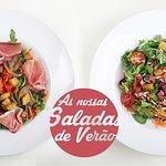 Saladas frescas e leves!